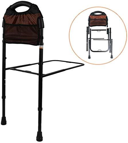 Bedside armsteun Bedside Leuning valbeveiligingsfunctie Bedhek for Ouderen Mobiliteit Medische Hulpmiddelen Adjustable met Floor Ondersteuning en Storage Bag riser