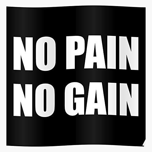 MADEWELL Gym Fitness Lifting No Zyzz Bodybuilding Sport Gain Sports Pain Weight Das eindrucksvollste und stilvollste Poster für Innendekoration, das derzeit erhältlich ist