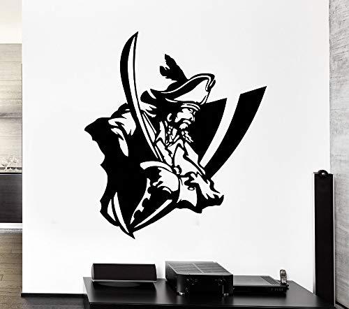 zhuziji Neue wandaufkleber kapitän Sailor Marine Piratenschiff einstieg Vinyl Aufkleber kinderzimmer dekorative Kunst mural84x98cm