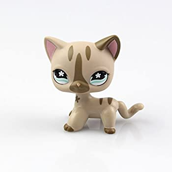 SmileFly Littlest Pet Shop LPS Toy Pet Short Hair Cat Animal Child Girl Boy Figure Loose Cute Standing Cat Mask Short Hair  Choose Your cat  for Kids Gift 1pc