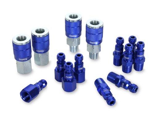 ColorConnex Coupler & Plug Kit (14 Piece), Automotive Type C, 1/4 in. NPT, Blue, A72458C