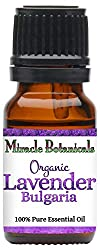 Miracle Botanicals Organic Bulgarian Lavender Essential Oil - 100% Pure Lavandula Angustifolia Vera - 10ml or 30ml Sizes - Therapeutic Grade - 10ml
