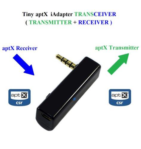 KOKKIA iTRANSCEIVER : iAdapter aptX Bluetooth Sendeempfänger (NEUE VERSION) Der ULTIMATIVE UNIVERSAL 3,5 mm Mini aptX Bluetooth Stereo Sendeempfänger mit höherer Datenrate, Zwei-in-eins Bluetooth-Stereo-Sender UND Bluetooth-Stereo-Empfänger. Funktioniert mit ALLEN iPods/iPhones/iPads, Android/Windows/Samsung SmartPhones/Tablets, PCs/Macs, allen Musikgeräten mit 3,5 mm Audiobuchsen, etc.