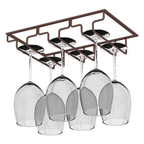 3 Steckplätze 6 Tassen Metall Wandmontierter Wein |Champagnerglas-Rack |Glasaufhänger, Glashalter, Unterschrank Hängen Wein-Champagnerglas Becher Stemware-Rack-Halter (3 Farbe) Dekoregal Regal
