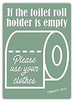Toilet Roll 金属板ブリキ看板警告サイン注意サイン表示パネル情報サイン金属安全サイン