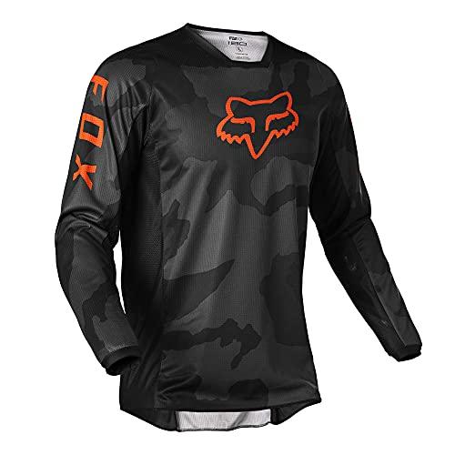 Fox Racing Herren 180 Trev Motocross Jersey Trikot, Schwarz-Camo, Large