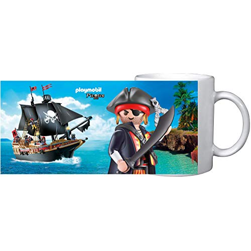 PLAYMOBIL United Labels Tasse Becher Cup Kaffee Tee Piraten, 320 ml, Bunt, 320Ml