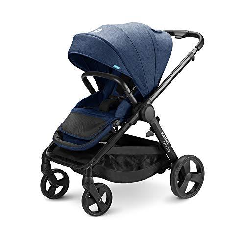 APRAMO EXXPLORE Bebé Silla de Paseo Reversible Infantil Multifuncional Carrito Plegable Compatible con Capazo y Bebé Silla de Coche (Azul)