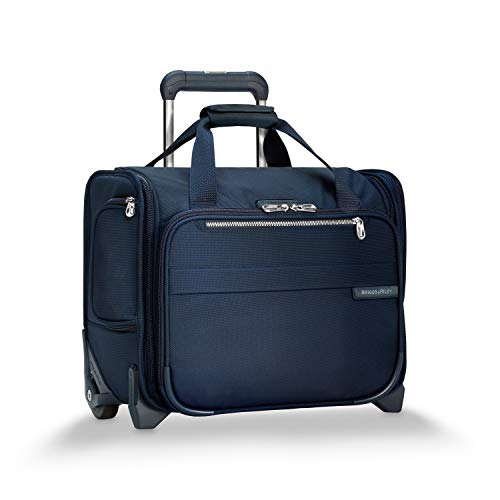 Briggs & Riley Baseline-Softside Rolling Cabin Upright Bag, Navy, Underseater 16-Inch