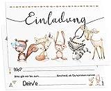 12 Cute Boho Freunde Einladungskarten inkl. Umschläge perfekte Einladung zum Kindergeburtstag oder Kinder Party | Geburtstag-Einladungen zum ausfüllen (Cute Boho Freunde)