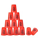 Stacking Cups de PP con Tutoriales Sport Stacking 1 Bolsa +1 Polo Portátil para Guardar Desarrolla...