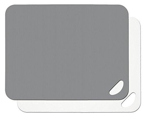 Lurch 10940 Flexi-Schneidbretter 2er Set aus Kunststoff, Flint Grey/weiß, 38 x 29cm