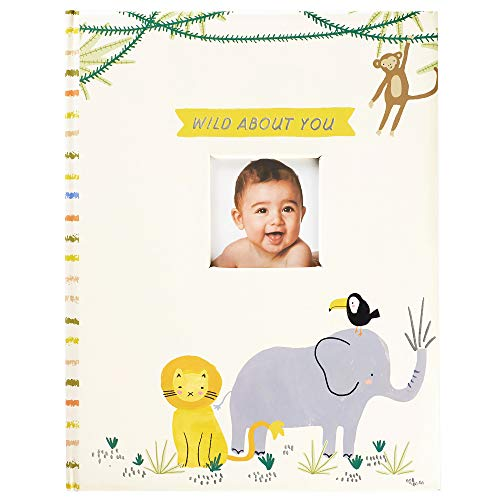 C.R. Gibson B248-22583 ''Wild About You'' Zoo Animal Baby Book with Gift Box, 48 Pages, 8.75'' W x 11.25'' H