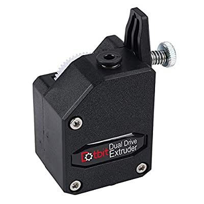 BMG Extruder, 3D Printer Bowden Extruder, MK8 Cloned Dual Drive Extruder Deceleration for Wanhao D9, for Creality CR-10, for Ender-3, for Anet E10(Black)
