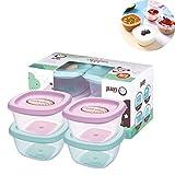 Schneespitze 4Pcs Baby Contenedores de almacenamiento de alimentos,Caja de...