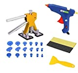 S-SNAIL-OO Car Paintless Dent Repair Dint Hail Damage Remover Puller Lifter 18 Tab Tool Kit, Paintless Dent Repair Kit Professional, Dent Puller Kit for Cars Weld, Car Dent Puller Heavy Duty