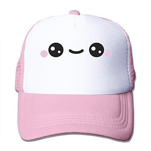 Cute Smile Kawaii Face Adjustable Snapback Mesh Hat Unisex c5545789d981