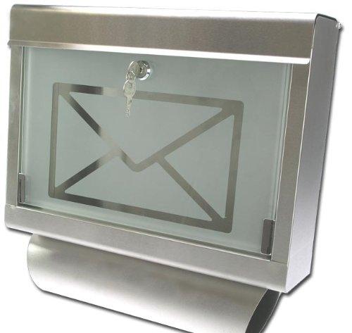 PRO DESIGN Briefkasten EDELSTAHL GLAS Zeitungsfach Modell ELECSA 1033