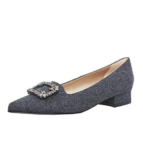 dirndl + bua Damen Dirndl-Schuhe Ballerinas Sabine in Grau Trachten-Schuhe, Schuhgröße:37 EU, Farbe:Grau