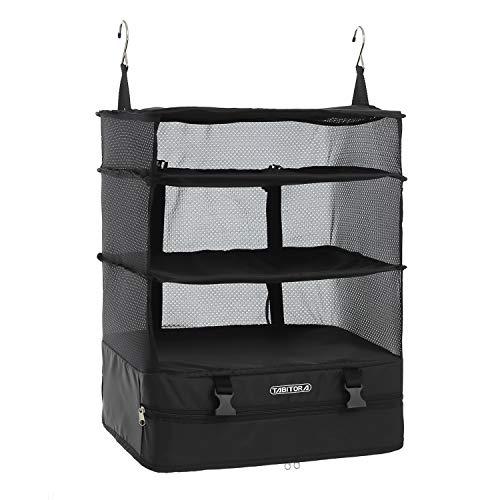 TABITORA(タビトラ)収納ボックス 吊り下げ インナーバッグ 衣類ラック 収納 旅行 出張 クローゼット 省スペース 大容量 衣装ケース 4段 オーガナイザー