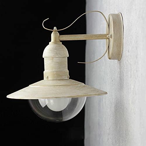 Edle Wandleuchte im Shabby Chic Farbton E27 bis 40W 230V für Innen und Außen Wandlampe Außenleuchte Beleuchtung Hauswand Hof Garten