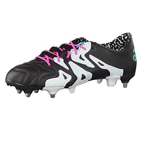 adidas Herren X 15.1 SG Leather Fußballschuhe, Schwarz Rosa Weiß schwarz Menimp Ftwbla, 39 1/3 EU