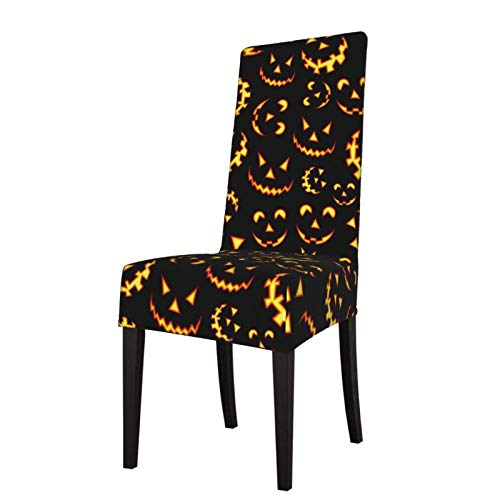 Chair Slipcover All Things Halloween and Fall Stretch Printed Chair Covers Washable Chairs Protector Seat Cover for Chairs