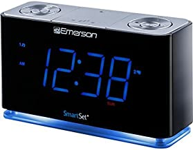 SmartSet Alarm Clock Radio with Bluetooth Speaker, USB Charger for iPhone and Android,..
