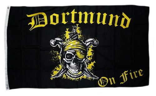 Flagge Fahne Dortmund on Fire 90 x 150 cm