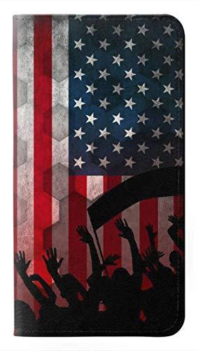 Innovedesire USA American Football Soccer Flag Flip Hülle Tasche Klappetui für Samsung Galaxy Note 20 Ultra, Ultra 5G