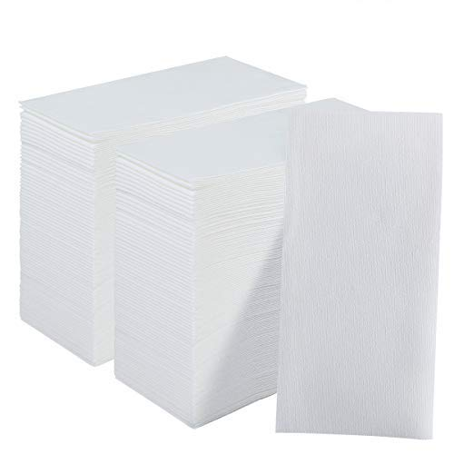 200 Pack Disposable Guest Towels Soft and Absorbent Linen-Feel Paper Hand Towels Decorative Bathroom Hand Napkins for Kitchen,Parties,Weddings,Dinners,White