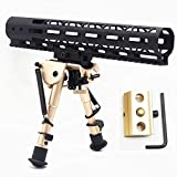 Rose Gold 6,9'' Rifle Bipod Tactical AR Accessories Stabilzer Heavy Duty Swivel Pivot with Adapter