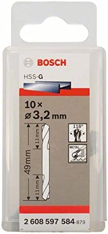 2021 autumn and winter new Bosch 2608597584 Double-End Drill Bit 10 Pcs 2mmx49mm Topics on TV 3