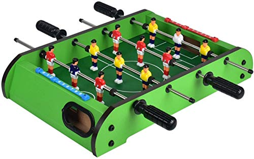 Affordable WHTBB Foosball Table, Easily Assemble Wooden Soccer Game Table Top w/Footballs, Indoor Table Soccer Set for Arcades, Game Room, Bars, Parties, Family Night
