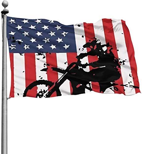 N/A Bandera de Estados Unidos de Motocross (2) banderas