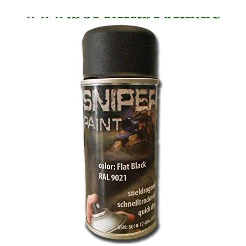 FOSCO Sombre Peinture Spray Sniper 150ML 469313FB Noir Airsoft