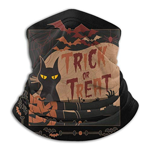 kickete Halloween Nacht Süßes oder Saures Vampir Katze Sternenhimmel Gesichtsmaske Halbgesicht Mikrofaser Halswärmer
