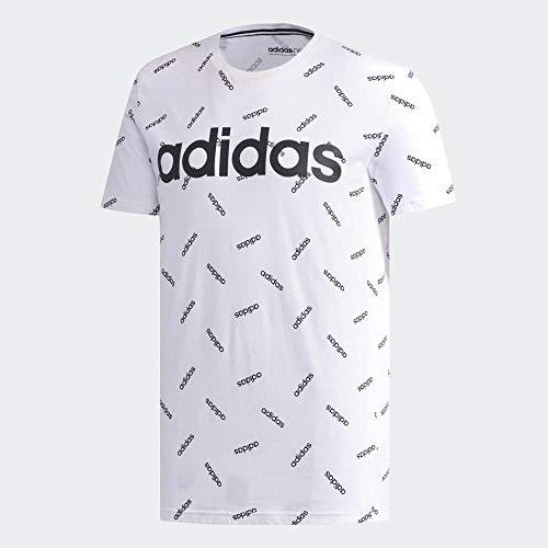 adidas Graphic T-Shirt Homme, White/Black, FR : S (Taille Fabricant : S)