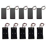 GTIWUNG 5Pcs 2 × 3.7V 18650 Caja de Soporte de Batería con Interruptor + 5Pcs Caja de Almacenamiento de Batería de Plástico con Cables (2 Solts)