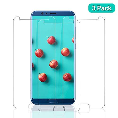 SNUNGPHIR® Cristal Templado Huawei Honor View 10, [3-Pack] Protector Pantalla Huawei Honor View 10 Vidrio Templado [2.5d Borde Redondo] [9H Dureza] [Alta Definición] [Anti-Arañazos/Huella Digital]