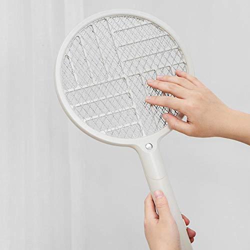 matamoscas eléctrico plegable de Josietomy, recargable, con mosquitera, USB, potente rejilla de 2600 V, seguro de tocar, con rejilla de seguridad de 3 capas