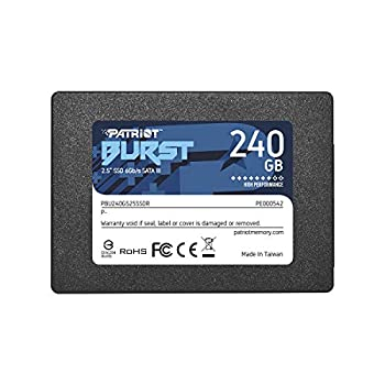 Patriot Memory Burst SSD 240GB SATA III Internal Solid State Drive 2.5  - PBU240GS25SSDR