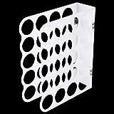 Hileyu Vinyl-Lagerregal 20-Loch-Acryl-Lagerregal Vinyl-Rollen-Aufbewahrungsorganisatorhalter Große Löcher Präsentationsständer für Vinyl-Rollen,30 x 25 cm Vinyl-Lagerregal Weiß