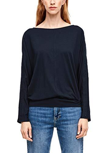 s.Oliver RED Label Damen Langarmshirt mit Häkelspitze Navy 38