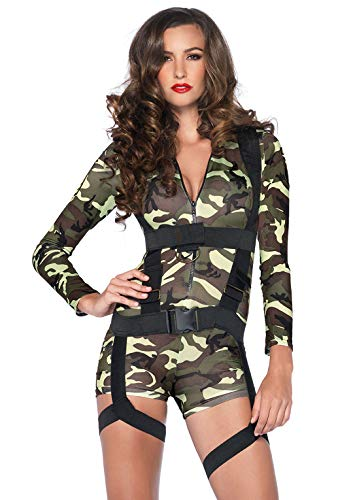 Leg Avenue Women's 2 Piece Goin' Commando Adult Sized Costumes, Camo, Small US