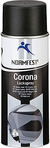 Normfest Corona Lackspray Schwarz Matt 650 C Hitzefest Einbrennlack 400 Ml Pro Dose Inkl Hs Auto