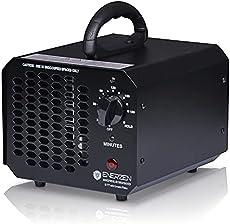 Enerzen Ozone Generator 6,000 mg/h Industrial O3 Air Purifier Deodorizer Sterilizer (6,000mg - Black)