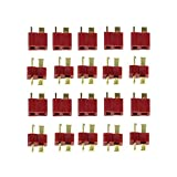 XSD MOEDL 20pcs T Style Plug Male & Female Connectors for RC Car Airplane LiPo Battery ESC
