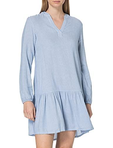 TOM TAILOR Damen 1026351 Stripe Kleid, 26743-Blue White Vertical, 46