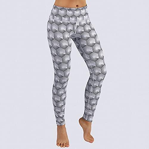 Leggings Cintura Alta Para Mujer,Pantalones De Yoga De Cintura Alta Para Mujer Medias De Entrenamiento Con Estampado De Panal Abstracto Leggings De Yoga Opacos Ropa De Gimnasia Para Gimnasia Pilates
